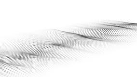 Onda das part?culas Onda futurista do ponto Ilustra??o do vetor Fundo abstrato com uma onda din?mica Onda 3d ilustração do vetor