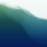 Onda de agua Ilustración del vector para su agua dulce de design Fotos de archivo libres de regalías