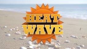 Onda de calor - aviso extremo do tempo quente video estoque