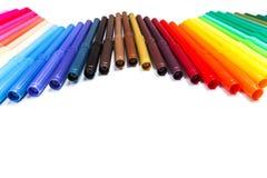 Onda de fabricantes coloridos Fotos de Stock Royalty Free