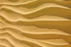 Onda de la arena amarilla fotografía de archivo libre de regalías