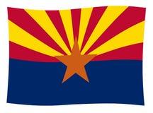 Onda de la bandera del estado de Arizona ilustración del vector