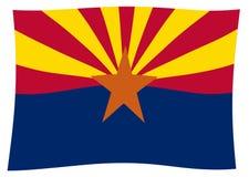 Onda de la bandera del estado de Arizona libre illustration