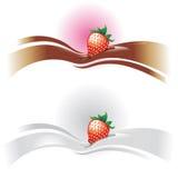 Onda de la fresa ilustración del vector