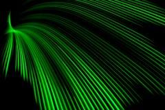 Onda de la luz verde Fotos de archivo libres de regalías