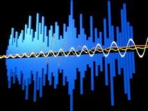 Onda de la música Imagen de archivo