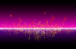 onda de la música del vector Fotografía de archivo libre de regalías