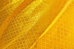 Onda de la materia textil amarilla Imágenes de archivo libres de regalías