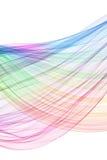 Onda de la mezcla del color Imagen de archivo