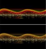 Onda de la música del vector Fotos de archivo