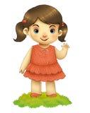 Onda de la muchacha Imagen de archivo libre de regalías