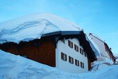 Onda de la nieve Foto de archivo libre de regalías