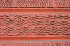 Onda de la pared de piedra del fondo Rojo de ladrillo de la pared Foto de archivo libre de regalías