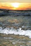Onda de la puesta del sol Fotografía de archivo libre de regalías