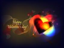 Onda de la tarjeta del día de San Valentín Imagen de archivo