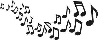 Onda de las notas de la música ilustración del vector