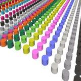 Onda de los cilindros del color Stock de ilustración