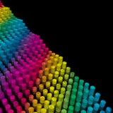 Onda de los cilindros del color Ilustración del Vector