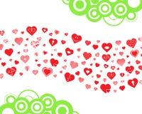 Onda de los corazones Imagen de archivo libre de regalías