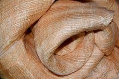 Onda de lujo del paño del fondo abstracto o de la flor del círculo o dobleces ondulados de la textura roja del paño Imagen de archivo