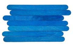 Onda de madeira das cores azuis vívidas Foto de Stock Royalty Free