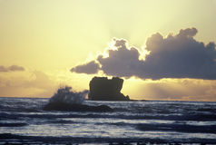 Onda de océano en la puesta del sol, WA Fotografía de archivo