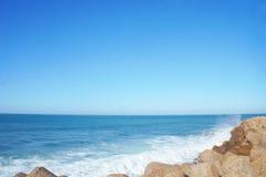 Onda de oceano em Tânger África fotografia de stock royalty free
