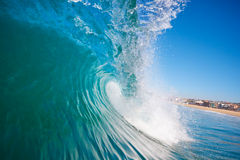 Onda de oceano na praia Fotografia de Stock
