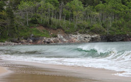 Onda de oceano no Sandy Beach Imagem de Stock