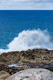 Onda de oceano que quebra na costa de mar, ilha de Luskentyre de Harris Imagem de Stock