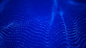 Onda de part?culas Fondo abstracto con una onda futurista Visualizaci?n grande de los datos representaci?n 3d ilustración del vector