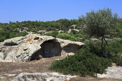 Onda de piedra hermosa del mar Fotografía de archivo libre de regalías