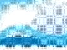 Onda de semitono del vector stock de ilustración