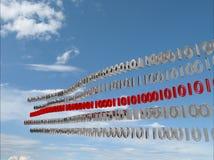 Onda dei bit di dati digitali Immagini Stock