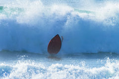 Onda deixando de funcionar da placa do surfista Imagens de Stock Royalty Free