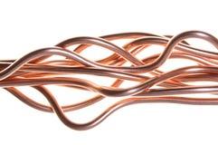 Onda del alambre de cobre Imagen de archivo libre de regalías