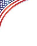 Onda del marco de la bandera de los E.E.U.U. Imágenes de archivo libres de regalías