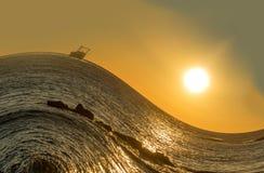 Onda del mare Fotografia Stock