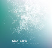 Onda del mare dal punto e dalla linea collegamento illustrazione vettoriale