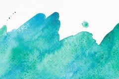 Onda del mare dell'acquerello Fotografie Stock Libere da Diritti