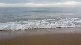 Onda del mare di mattina di estate Fotografia Stock Libera da Diritti