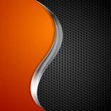 Onda del metal y fondo perforado negro de la textura ilustración del vector