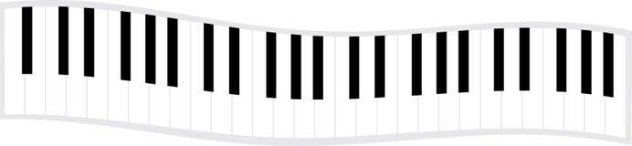 Onda del teclado de piano stock de ilustración