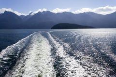 Onda del transbordador de Howe Sound Fotos de archivo