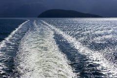 Onda del transbordador de Howe Sound Fotografía de archivo libre de regalías