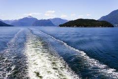 Onda del transbordador de Howe Sound Imagen de archivo