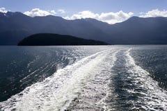 Onda del transbordador de Howe Sound Fotos de archivo libres de regalías