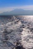 Onda dell'acqua di mare dell'oceano Immagini Stock Libere da Diritti