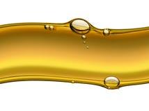 Onda dell'olio con le bolle di aria Fotografie Stock Libere da Diritti