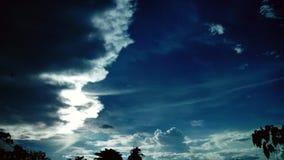 Onda della nuvola fotografie stock libere da diritti